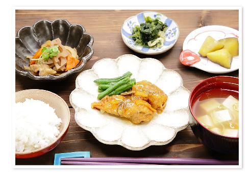 ヘルシーな食事(魚のあんかけ定食)