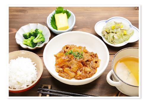 ヘルシーな食事(ハッシュドビーフ定食)